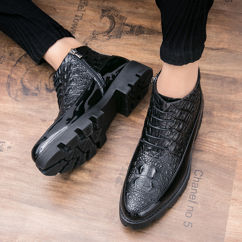 Handmade Classic Men Boots lace up High Quality Leather Men Dress Shoes fashion Outdoor Autumn Man Moccasins Men Ankle Boots