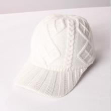 2019 New Warmer Knitted Design Winter Baseball Cap Solid Color Men Women Thicken Warm Hats H35