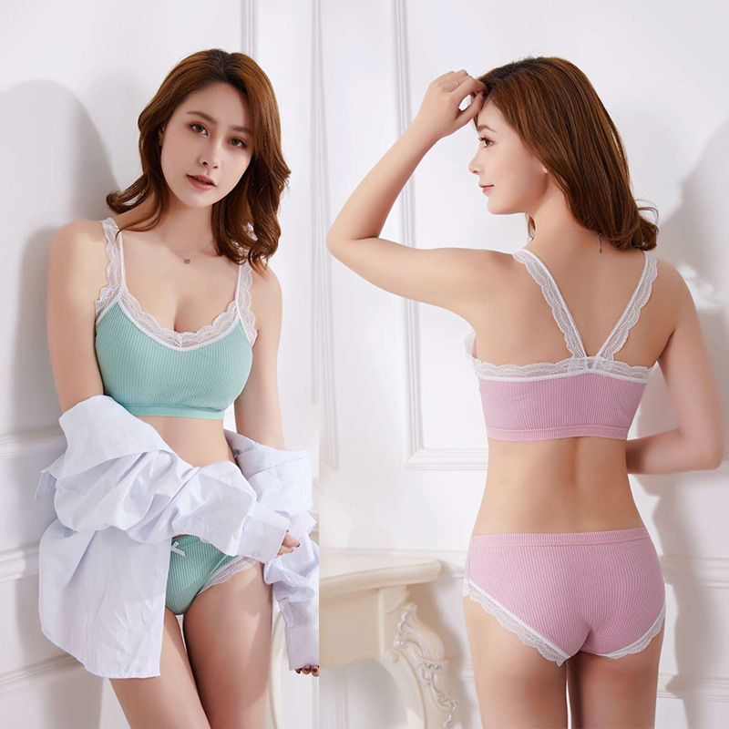 2Pcs Girls Teenage Underwear Set Children Young Training Bra Puberty Panties US