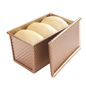 Bread Toast Mold Non Stick Aluminized Rose Gold metal 19.5x10.3x11.3cm