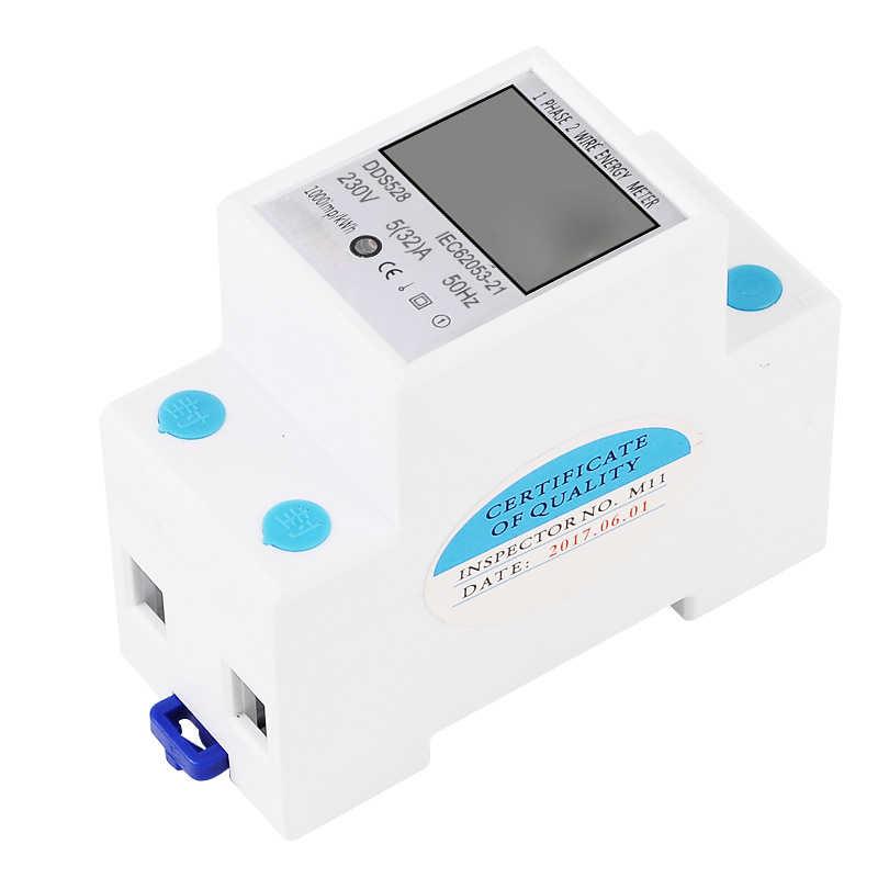 DDS528 LCD affichage numérique compteur d'énergie 230V AC 50Hz consommation kWh mètre monophasé compteur d'énergie Watt wattmètre