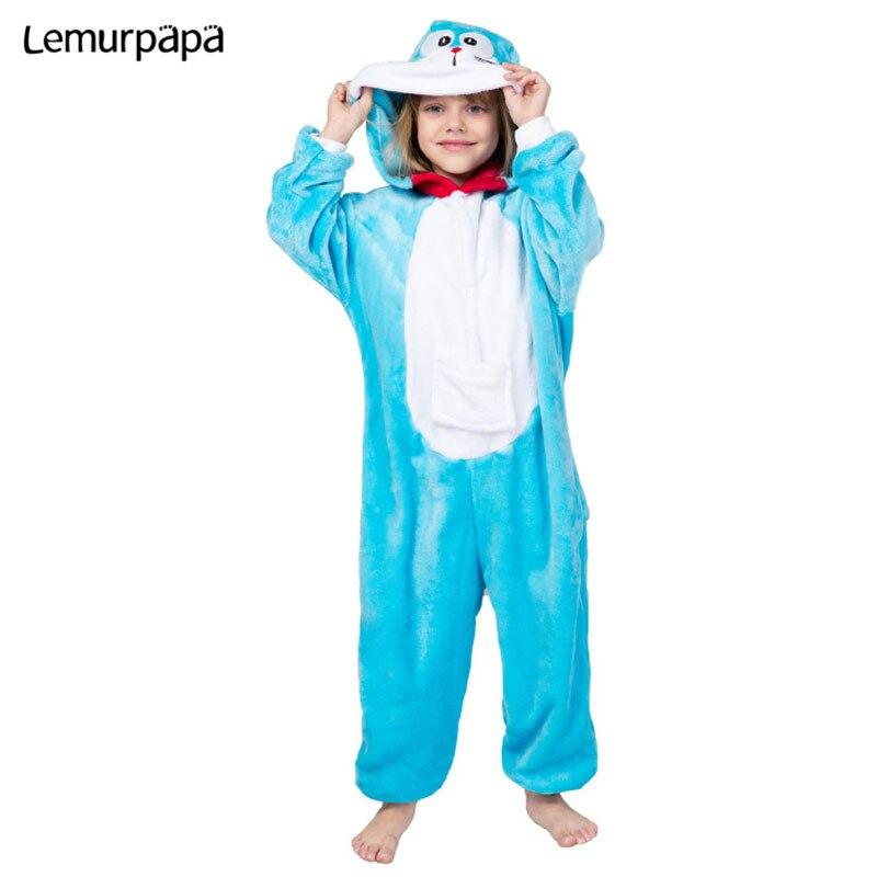 Doraemon niño pijama kigurumi Onesies Niña de dibujos animados niño ropa para fiestas caseras Cosplay mono una sola pieza niños traje de la ropa Mallas de bebé MILANCEL a rayas para bebés y niños leggings ajustados leggings coreanos para niñas
