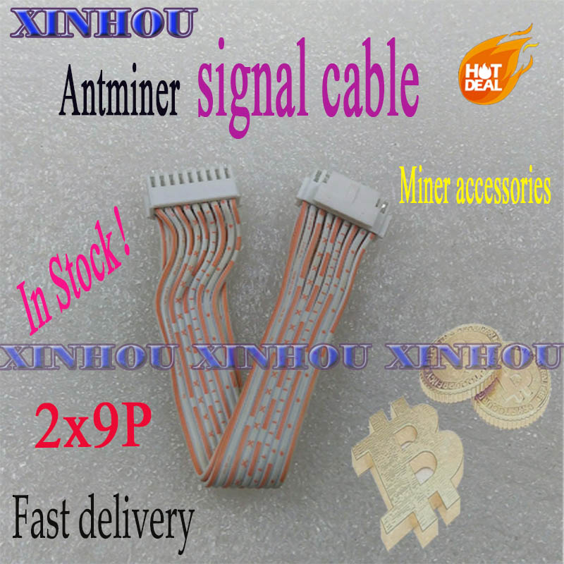Antminer mining signal cable 2x9 pins communication data cable 2.0 for asic bitcoin miner S9 S9K Z11 Z9 z9mini E3 K5 L3 A1 Z15 1