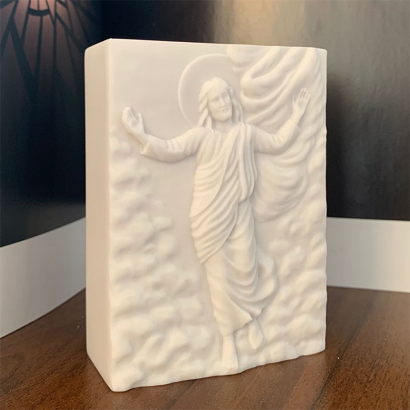 Jesus Shaped Soap Mold Silicone Mould DIY Tool Handmade Soap Molds