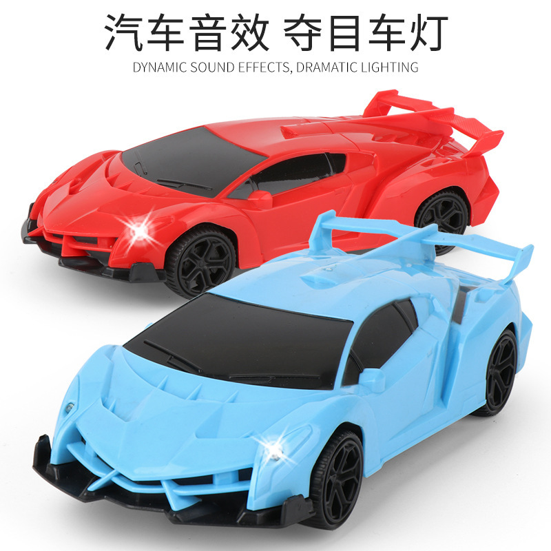 Group 116 # Children Electric Universal Sports Car Light Included Light Music Boy Race Car Model Toy