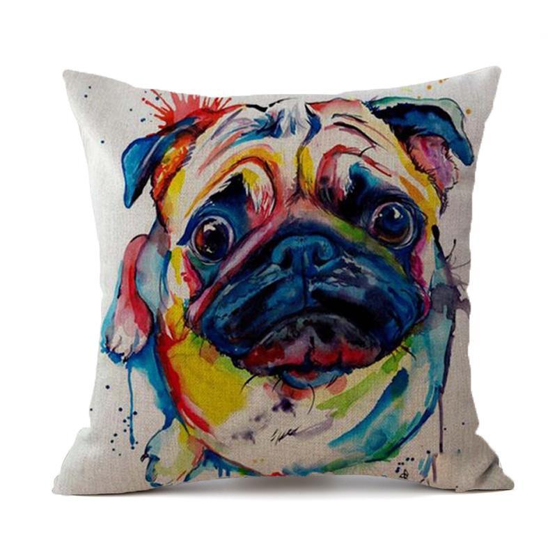 Dachshund Dog Pillow Case Decoration Pug French Bulldog Cushion Cover Buldog