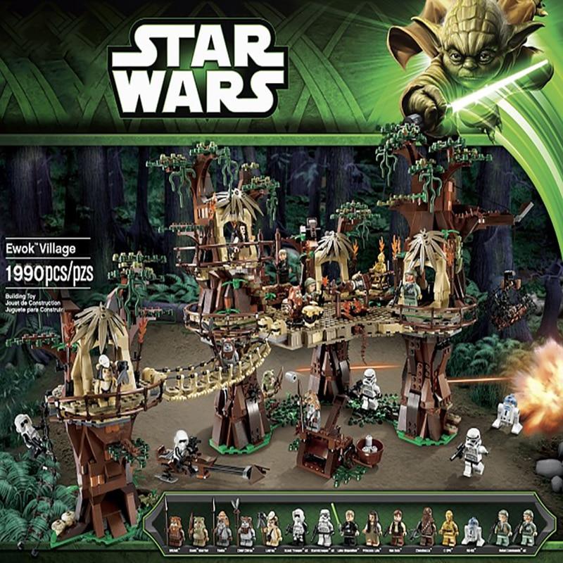 Star Wars Force Awakens Ewok Village Compatible Lepinglys 10236 Kids Christmas Birthday Toys Gifts DIY Building Blocks Bricks