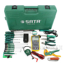 цена на 53 Pieces of Telecommunications Tools Electrician Special Set Toolbox Home Hardware Tools Comprehensive Combination