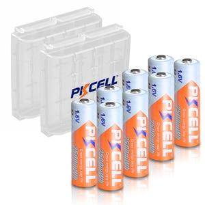 Image 1 - 8Pcs Pkcell Aa 2500mWh 1.6V Ni Zn Oplaadbare Batterij Aa Nizn Batterijen 2A En 2 Stuks Nizn batterij Houder Doos Gevallen Voor Camera