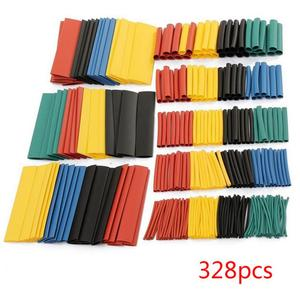 Heat Shrink Tube Kit Shrinking Assorted Polyolefin Insulation Sleeving Heat Shrink Tubing Wire Cable Sleeves DIY Repair Supplies