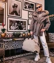 Женское кашемировое пальто элегантное известного бренда из натуральной