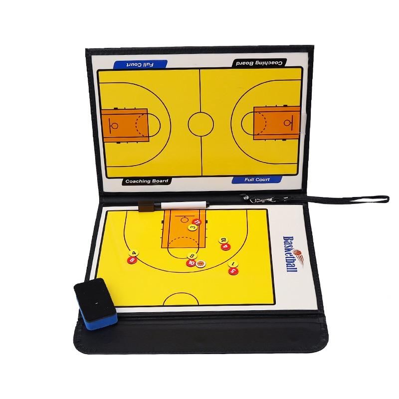 Professional Basketball Coach Board Double-sided Soccer Board Basketball Tactical Board Zipper Coach Board