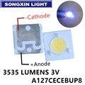 Светодиодный светильник 100 лм, 1 Вт, 3 в, 3535, 3537, холодный белый, ЖК-подсветка для ТВ, приложения A127CECEBUP8 Style-3