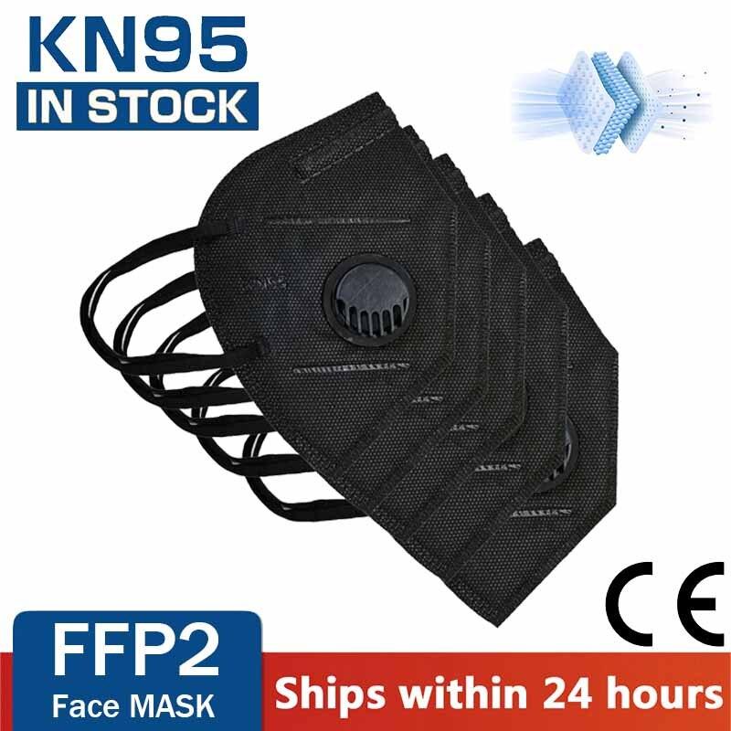 Многоразовые FFP2 KN95 маски с клапаном уход за кожей лица маска для полости рта FFP3 респиратор 5 Слои защита от пыли Защитная Mascarillas FPP2 FPP3