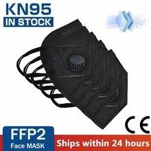 Reutilizável ffp2 kn95 máscaras valved rosto boca máscara ffp3 respirador 5 camada proteção anti poeira mascarillas fpp2 fpp3