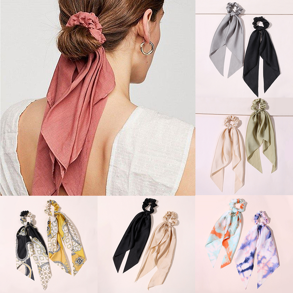 11pcs Solid Scrunchie Scrunchies Pack Headband Hair Accessories For