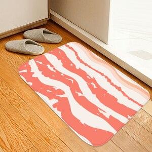 3d carne comida tapete do banheiro tapete de cristal macio velo anti-skid cozinha tapete varanda capacho tapete de banho para casa decorativa