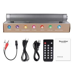 Image 5 - TV portatile Altoparlante Subwoofer Bluetooth Speaker Mic di TF di Maggiore TV Soundbar Louderspeaker 10W Dual Bass Altoparlante Per Il PC Del Telefono TV