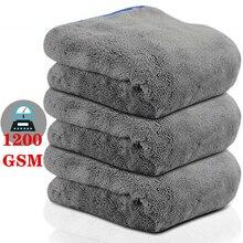 1200gsm ultra gruby ręcznik z mikrowłókna ręczniki do osuszania samochodu Detailling do czyszczenia i polerowania z mikrofibry myjnia samochodowa akcesoria odzieżowe
