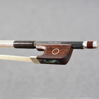 Superligero 4/4 tamaño maestro Arco Iris inflables arco de Violín de tejido de fibra de carbono palo Durable recto violín fuerte Accesorios