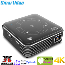 Smartldea Real 3D Mini projektor P11, Android 9.0 WiFi ręczny 4K Proyector 2.4G 5G Bluetooth 5.0 osobiste kino domowe Beamer