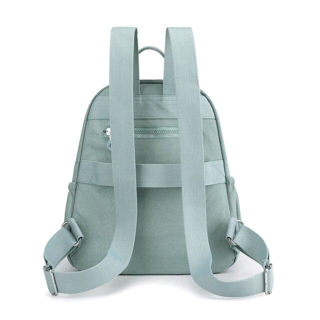 Women Waterproof Nylon Backpack Fashion Female Shoulder Bag Youth Vitality Style Multi-functional Travel School Bag 2