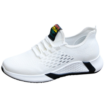 2021 new sports shoes men's breathable casual mesh shoes comfort increase lace-up non-slip low-top running shoes 5