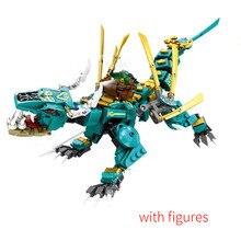 634pcs 8in1 New 2021 TV Series Jungle Dragon Building Blocks Classic Model compatible with 71746 Sets Bricks Kids Kits