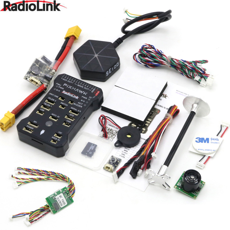 Radiolink Pixhawk PIX APM Flight Controller Combo with GPS Holder M8N GPS Buzzer 4G SD Card Telemetry Module Mounting foam(China)