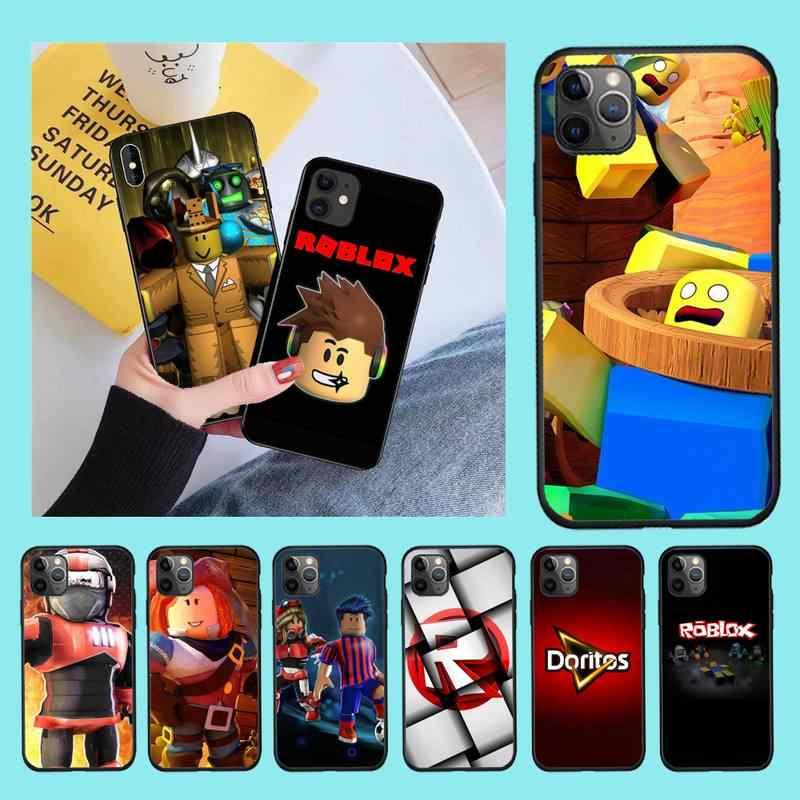 Cutewanan Roblox Video Game Diy Geschilderd Bling Phone Case Voor Iphone 11 Pro Xs Max 8 7 6 6S plus X 5S Se 2020 Xr Case