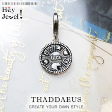 Fashion Custom 2019 Brand New 925 Sterling Silver Lucky Coin Pendants Charm for Women Men Fit Bracelet Necklace Accessory Making