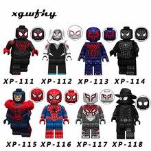 Single sales Avengers Spiderman Ultimate Spider-Man Noir Gwenom Building Blocks Bricks Toys For Children JM138