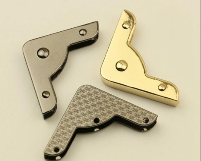 (10 Pcs/lot) Luggage Handbag Hardware Accessories Handbag Four Corner Metal Protection