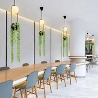 Nordic Plant Chandelier Flower Pot Aisle Restaurant Beautiful Sky Garden LED Lamp Home Decor