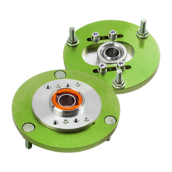 2 Pieces Coilover Camber Platesor For BMW E36 3 Series 318is 323ic 325i 328i M3 Top Mount Green