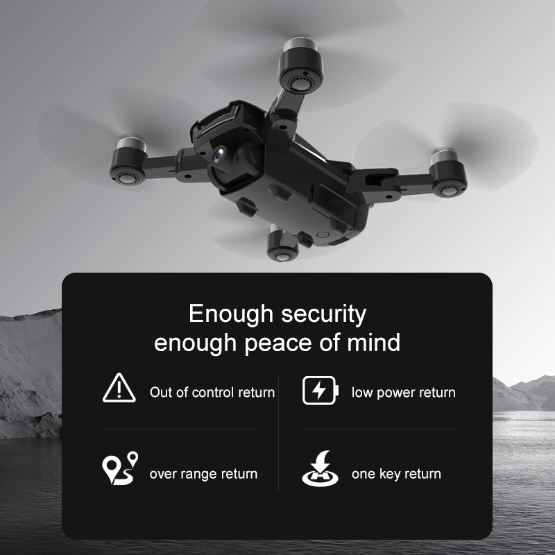 HR H3 Pro GPS RC Drone with Camera HD 4K WiFi FPV Foldable Quadcopter Helicopter Brushless Motor Smart Follow Profesional Dron 4