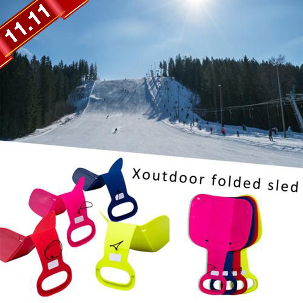 Outdoor Sports Skiing Pad Sled Snowboard For Kids Adult Children Winter Thicken Plastic Sand Grass Sledge Snow Luge санки