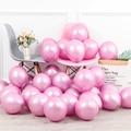 12 шт./лот хром металлик розовый латексные воздушные шары Свадебные празднований дня рождения Воздушные гелиевые Декор воздушные шары вечер...