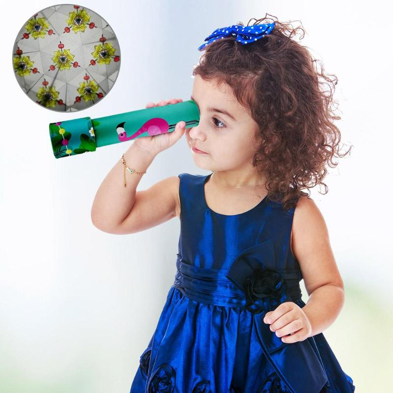 Montessori Rotating Unicorn Kaleidoscope Imagina Classic Toys Kaleidoscope Rotating Colorful World Kids Gift Color Random color