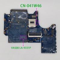 Para dell alienware m17x r5 CN-041W46 041w46 41w46 vas00 LA-9331P rev: 1.0 (a00) placa-mãe do portátil mainboard testado