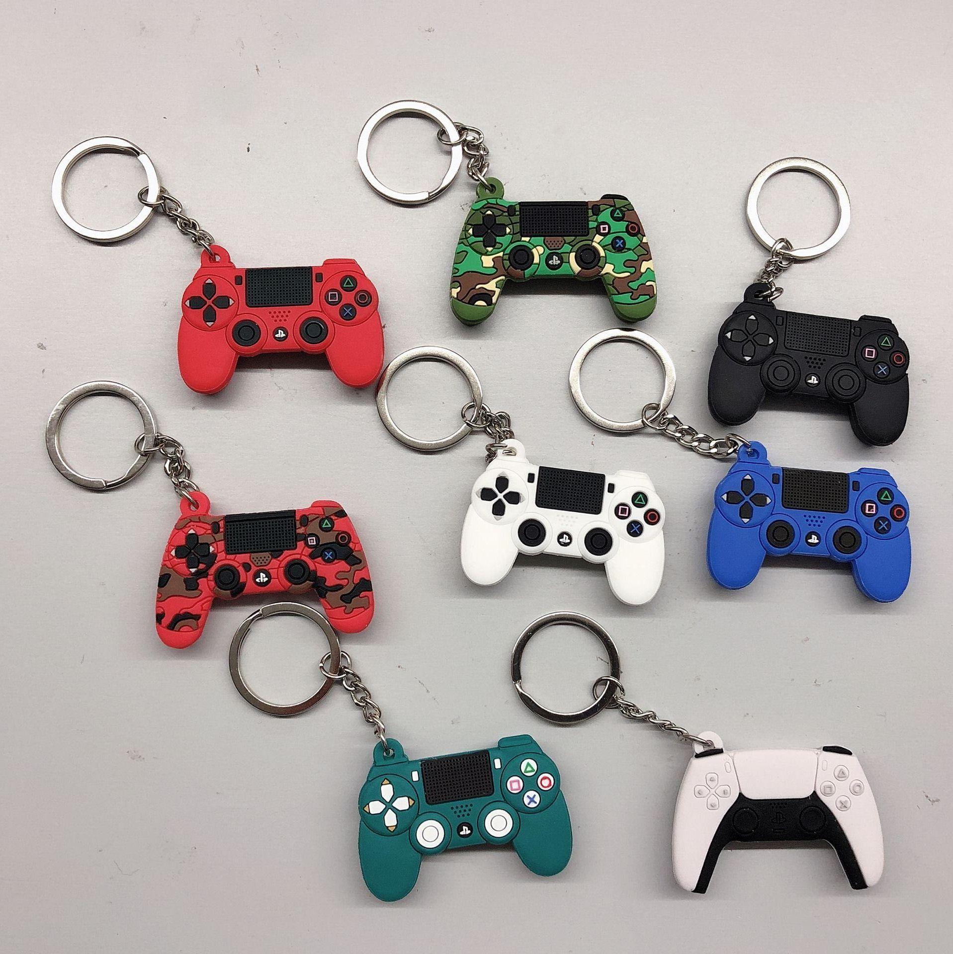 Mini PVC Black Red Video Game Controller Keyring Key Chains Gamepad Keychain UK