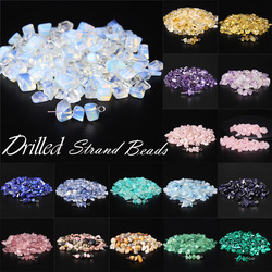 Natural Stone Beads Chips 5-8mm Crystal Turquolse Irregular Gravel Bead Accessories For Diy Jewelry Making With Hole 15
