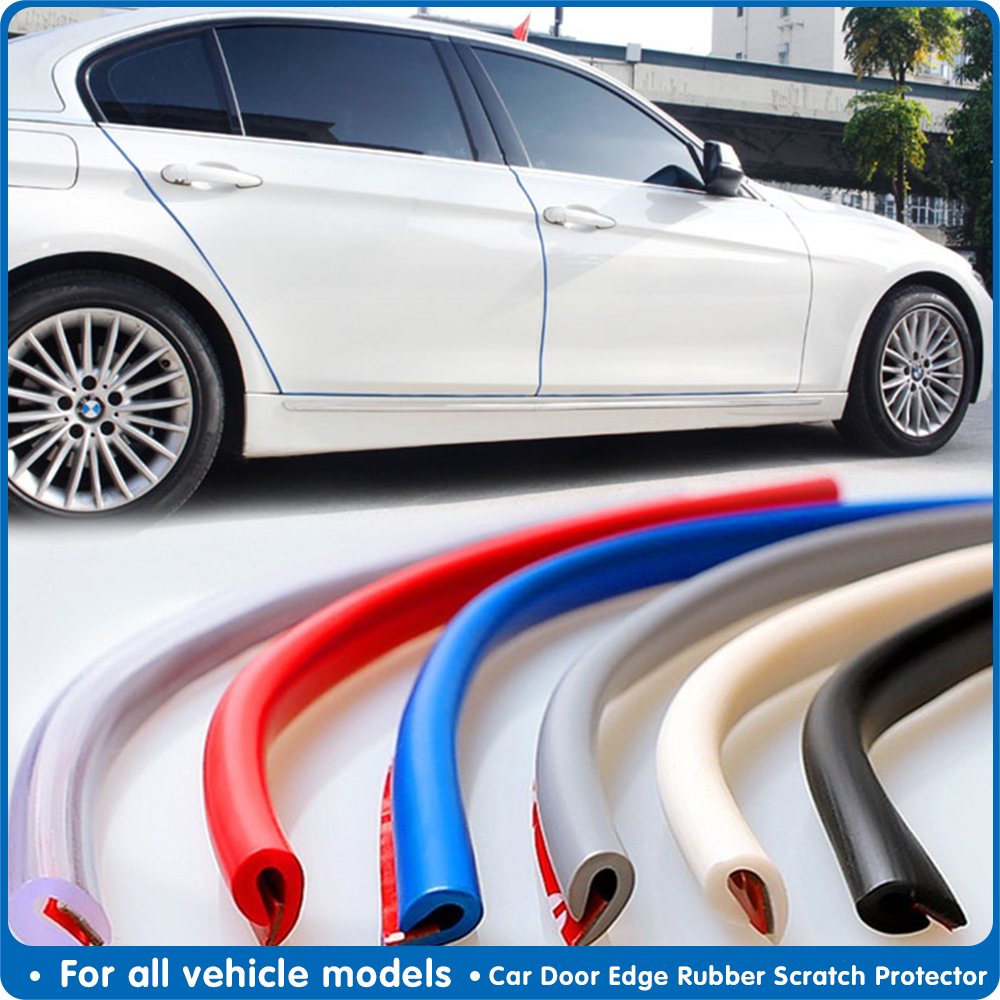 5m Car Door Protection Rubber Strip Car Door Protector Moldings Side Anti-rub Protection Car Door From Scratches Car-styling