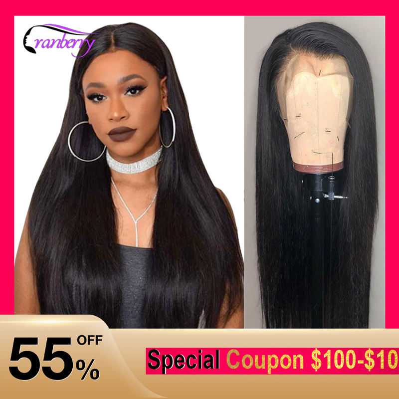 Cranberry Straight Lace Front Human Hair Wigs Pre Plucked Hairline 150% Density 13x4 Lace Front Wig Brazilian Wig Remy Hair Wigs