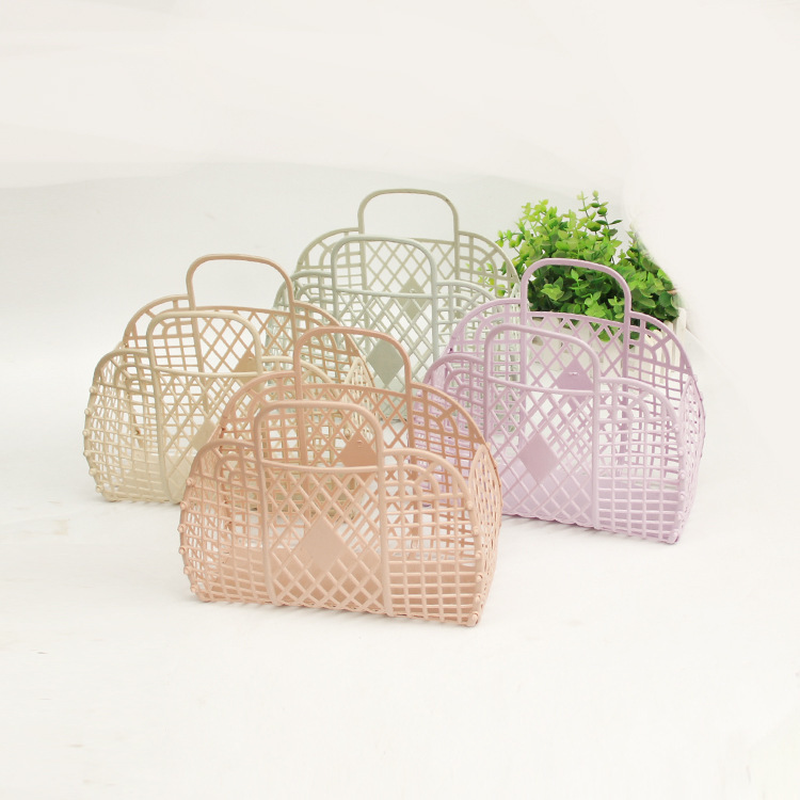 Spring And Summer New Hollow Jelly Basket Beach Vacation Large-capacity Vacation Bag Female