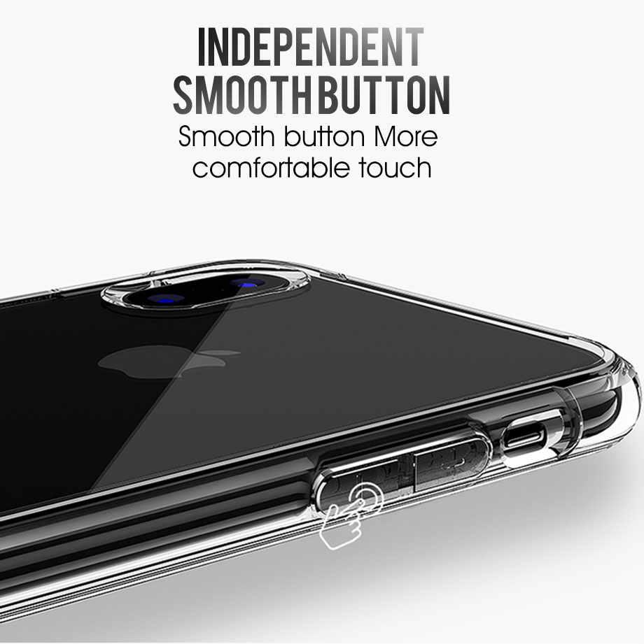 Étui pour iphone souple en TPU 11 Pro MAX 2019 5 SE 5 S 6 7 8 6 6S Plus X XR XS Coque de téléphone Coque arrière en Silicone Transparent Coque Capa