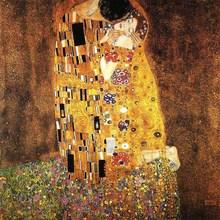 Ручная работа, художественная живопись Гюстава Климта, размножение, поцелуй, декор на стену, холст, настенная живопись, искусство для гостиной, спальни
