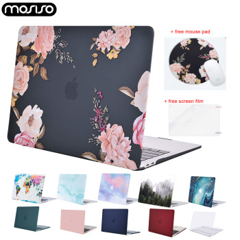 Laptop Hard Case for Macbook Air Retina Pro 13 15 touch bar A1706 A1989 A2159 A1708 A1932 A2179 2020 New Mac Air 13 Case Cover for new macbook air pro retina 11 12 13 15 for macbook pro 13 15 2017 2018 a1708 a1989 floral feather print laptop case cover