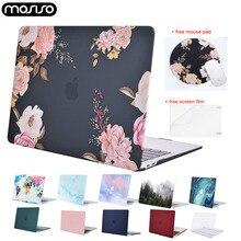 Laptop Hard Case için Macbook hava Retina Pro 13 15 dokunmatik bar A1706 A1989 A2159 A1708 A1932 A2179 2020 yeni mac Air 13 kılıf kapak