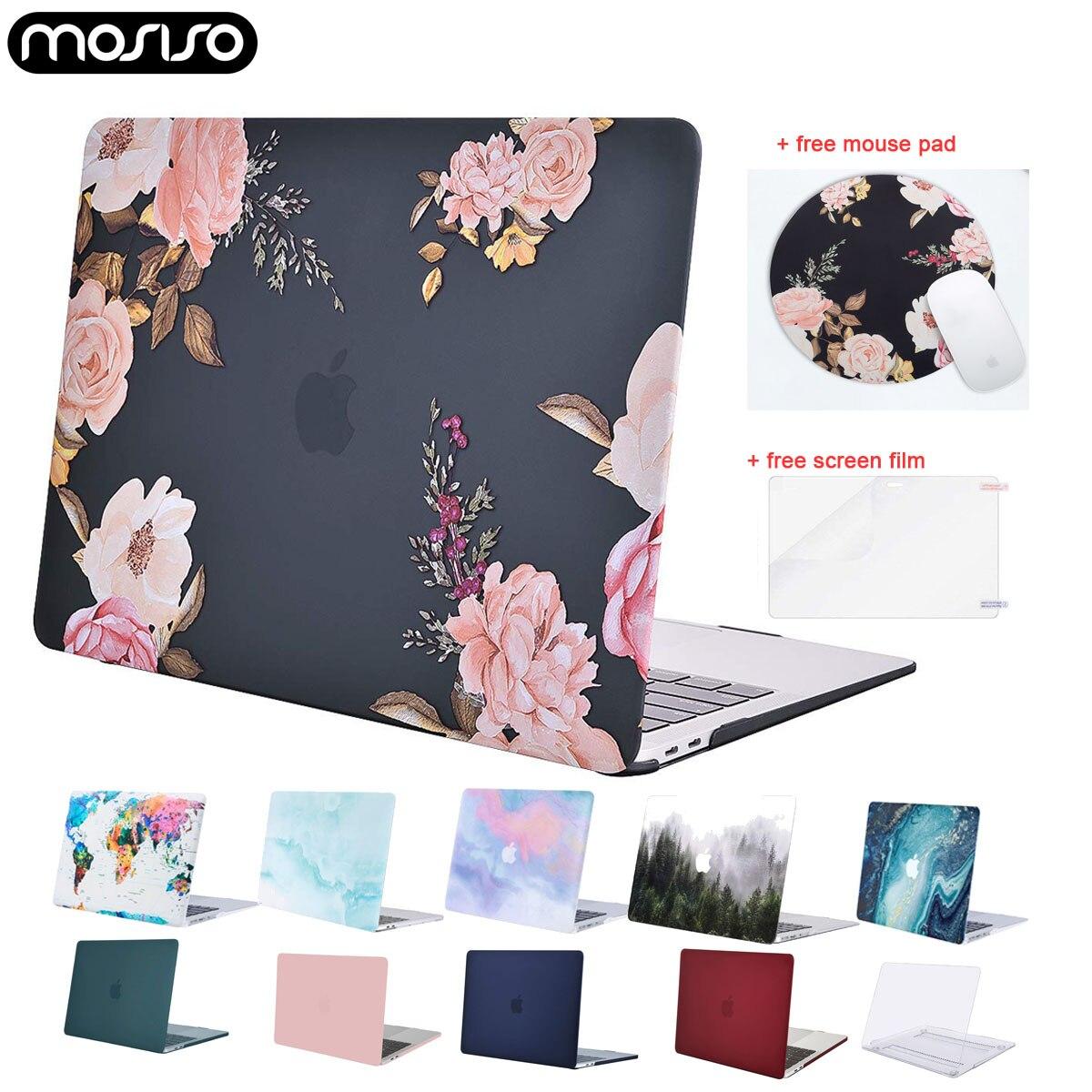 MOSISO Laptop Hard Case For Macbook Air Retina Pro 13 15 Touch Bar A1706 A1989 A2159 A1708 A1932 2019 New Mac Air 13 Case Cover